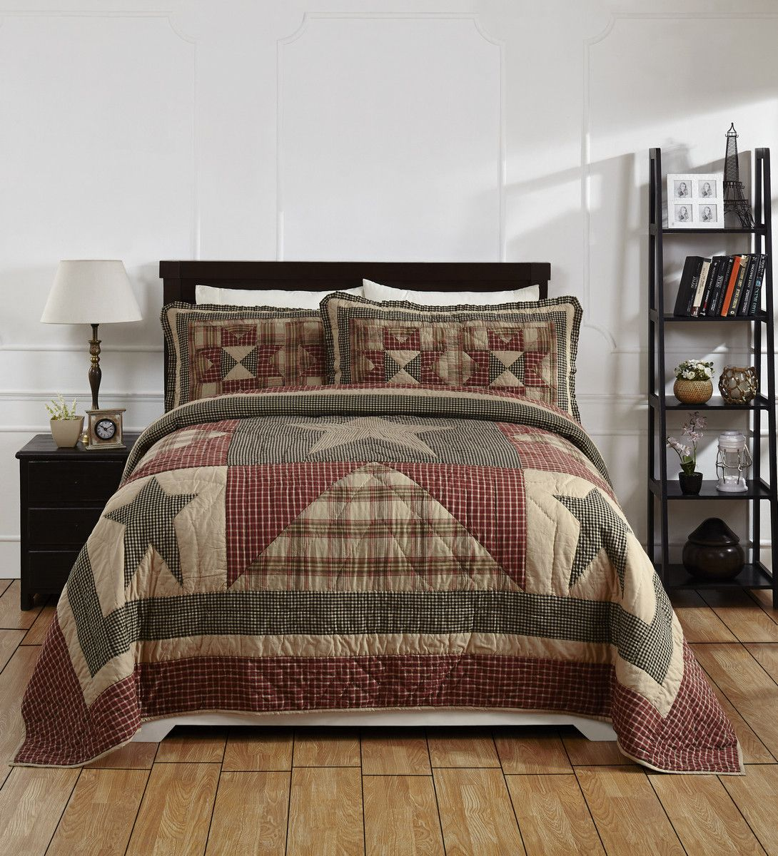 Plymouth Queen/Full Quilt Set | Plymouth, Primitive stars and Queens : star quilt set - Adamdwight.com