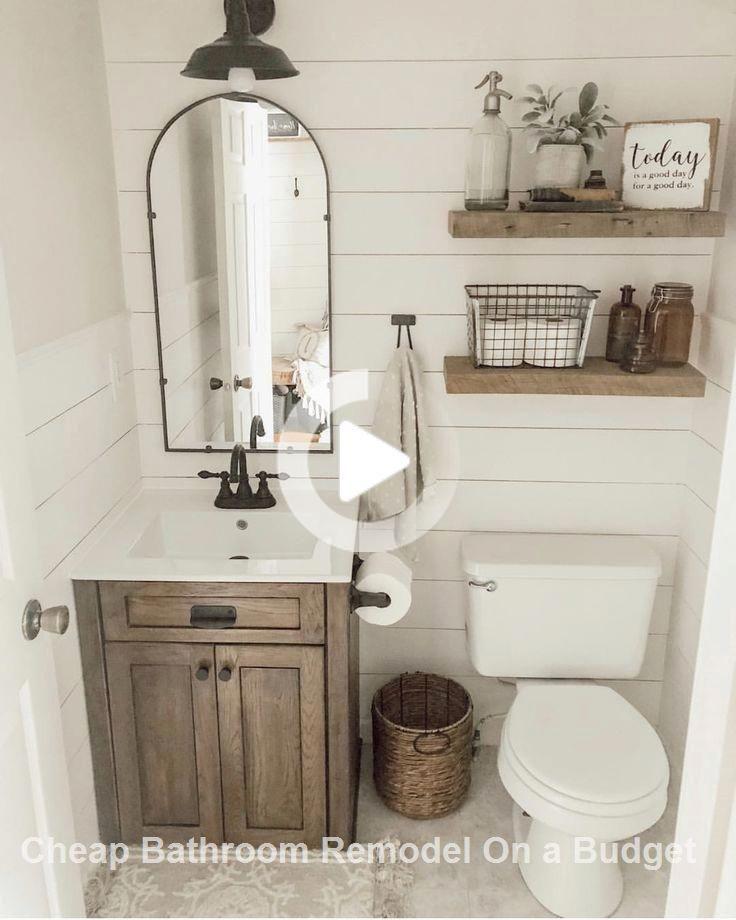 Photo of Organizzazione creativa del bagno e rimodellamento fai-da-te #bathroomremodel #Bathroomideas