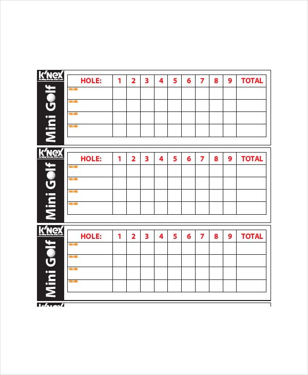 It is a graphic of Exceptional Printable Golf Stat Sheet
