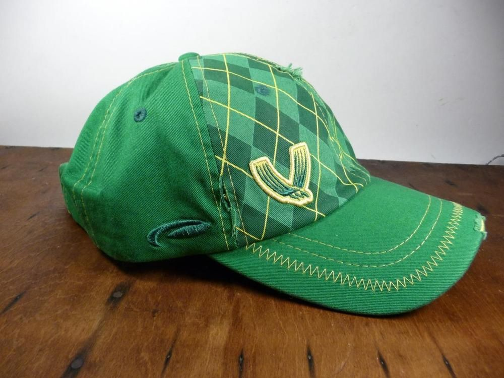 NEW Pukka Headwear VALHALLA GOLF CLUB Ball Cap Hat Green Argyle Plaid  Distressed  Pukka 08e5a729660
