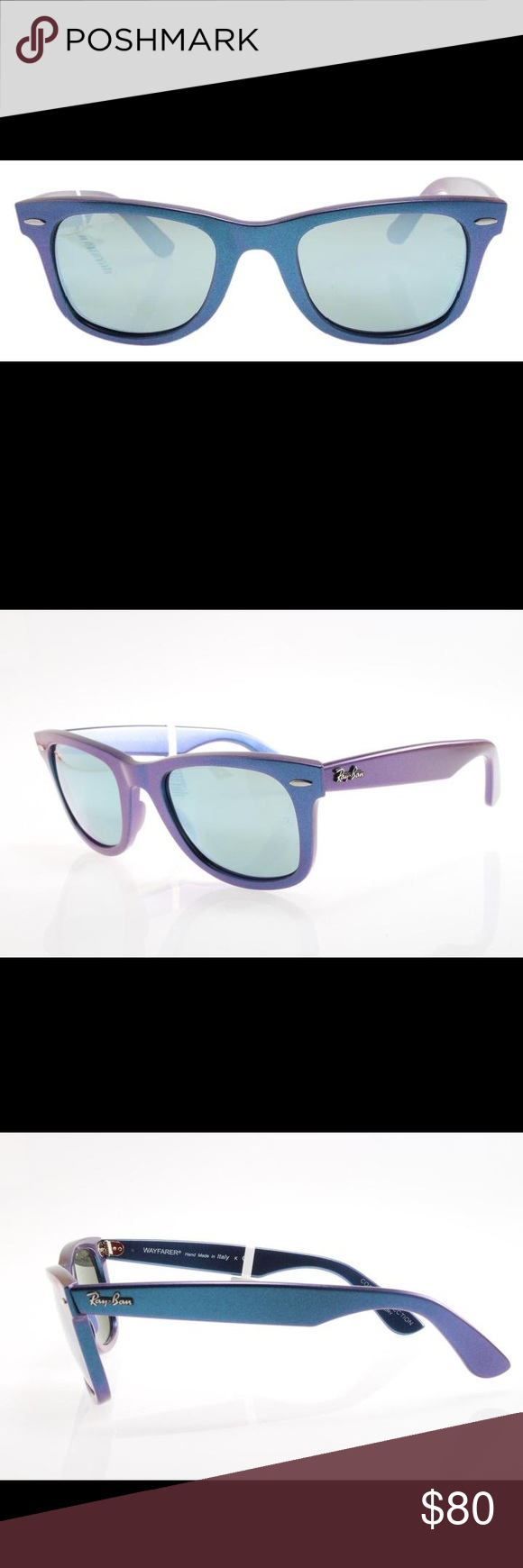 5a0328e9058cd Ray-Ban Blue Wayfarer Cosmo Mercury Sunglasses New original sunglasses Ray  Ban RB 2140 6113