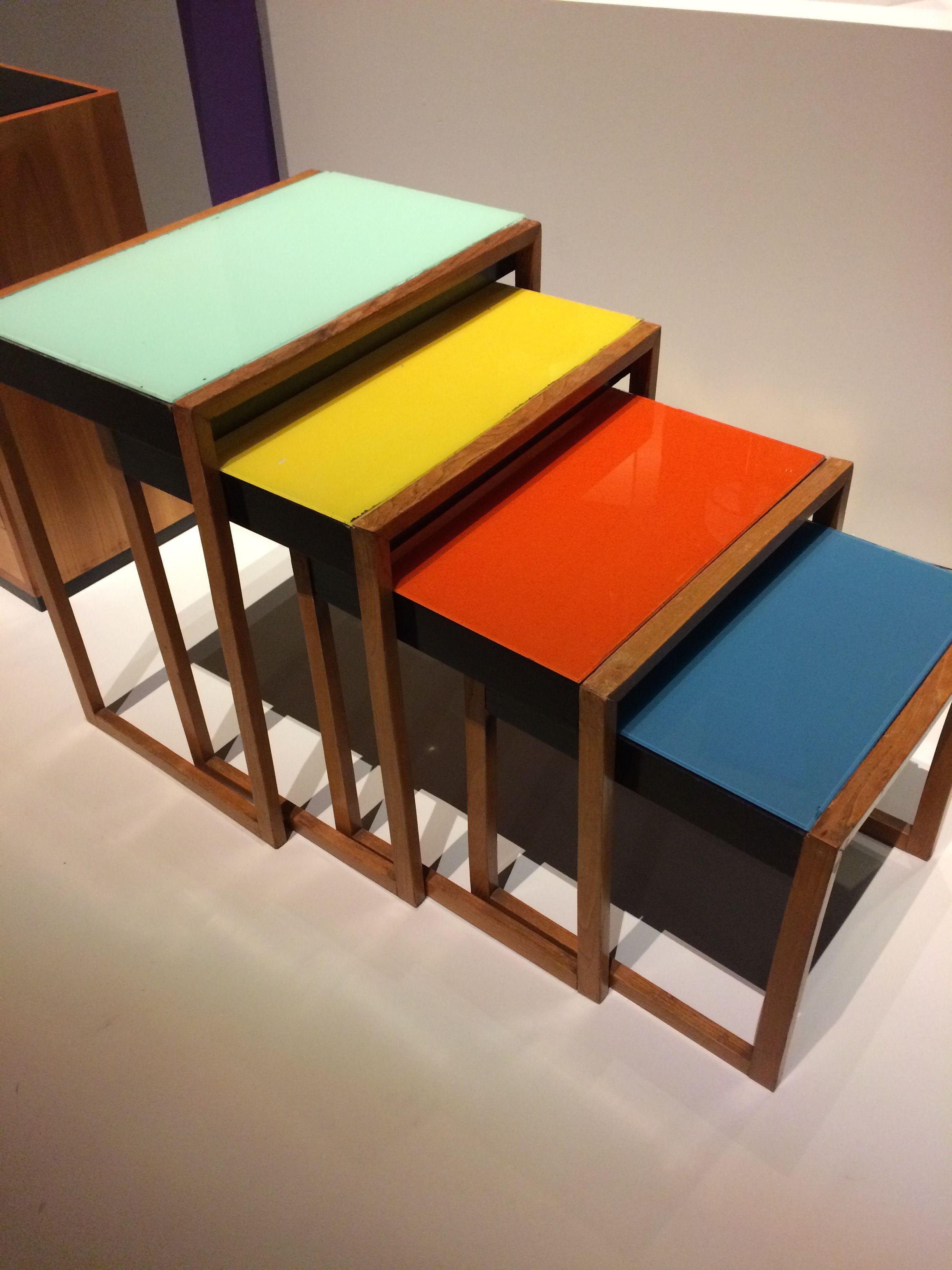 tables gigognes.expo bauhaus. musée des arts decoratifs paris   arts