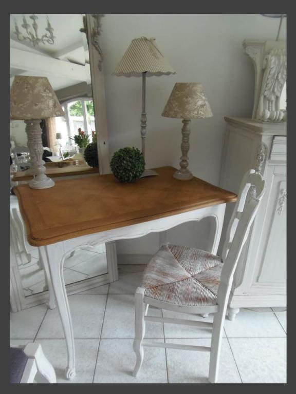Bureau chene avec chaise perle Bureau chene, Relooker et Rues - Peindre Meuble En Chene Vernis