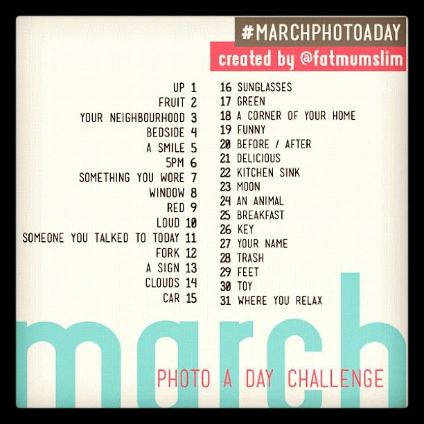 Photo Challenge for the Month of March!