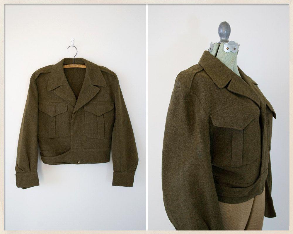 14fb4db81 vintage 50s Eisenhower jacket // 1951 military jacket // wool ...