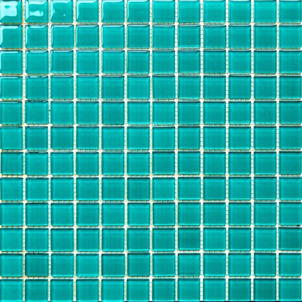 Details about 1x1 Turquoise Green Pool Glass Mosaic Tile in ...
