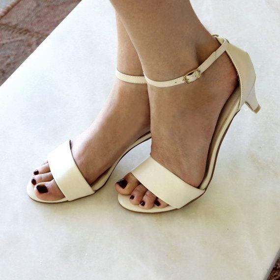 Ladies Ivory Low Heel Wedding Shoes Bridal Comfortable Shoe