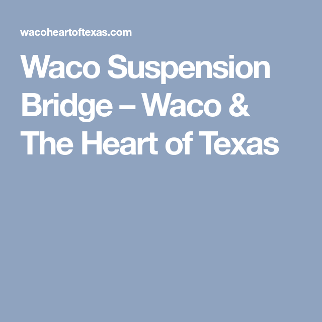 Pin On Waco Trip