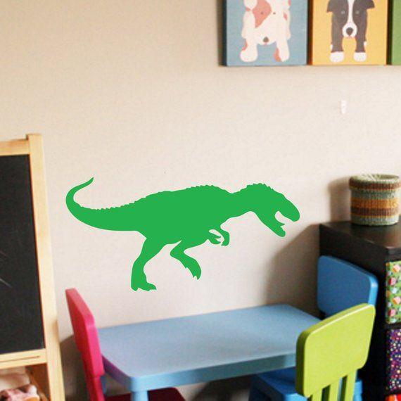 Tyrannosaurus Rex - Decal Wall Vinyl Sticker Family Kids Room Mural Reptile Dinosaur Fossil T-Rex Brontosaurus Raptor Boys Girls Land Time #dinosaurfossils