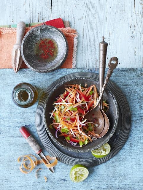 Thai Carrot Slaw ~ This gorgeous food and photography blog will lead you to the recipe. Enjoy!
