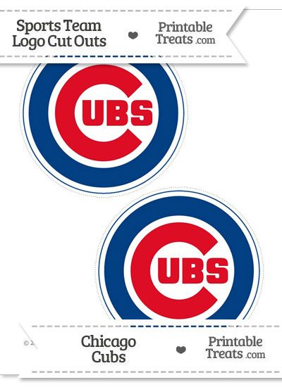 graphic relating to Printable Chicago Cubs Logo identify Medium Chicago Cubs Emblem Slice Outs towards