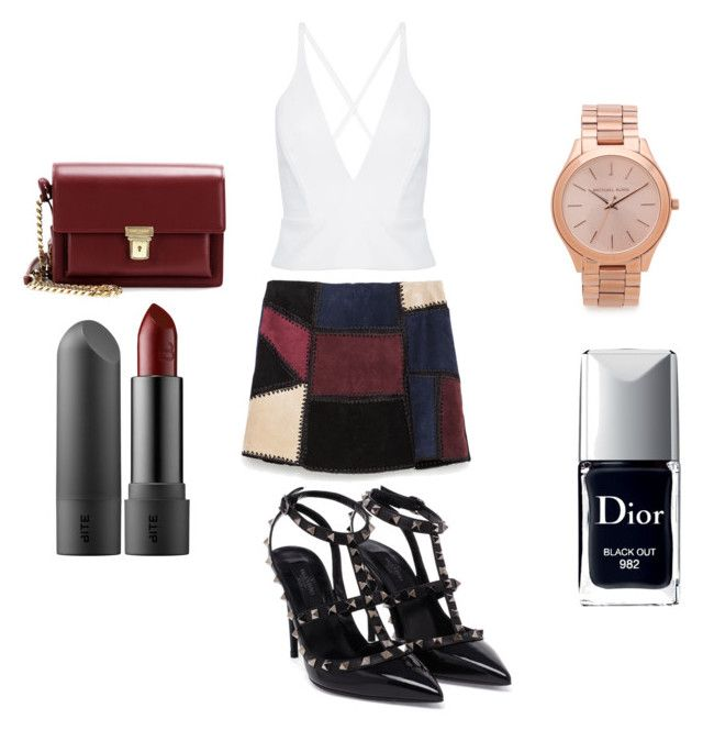 """""""For the nightparty"""" by adar-ginat on Polyvore featuring Zara, Valentino, Yves Saint Laurent and Michael Kors"""