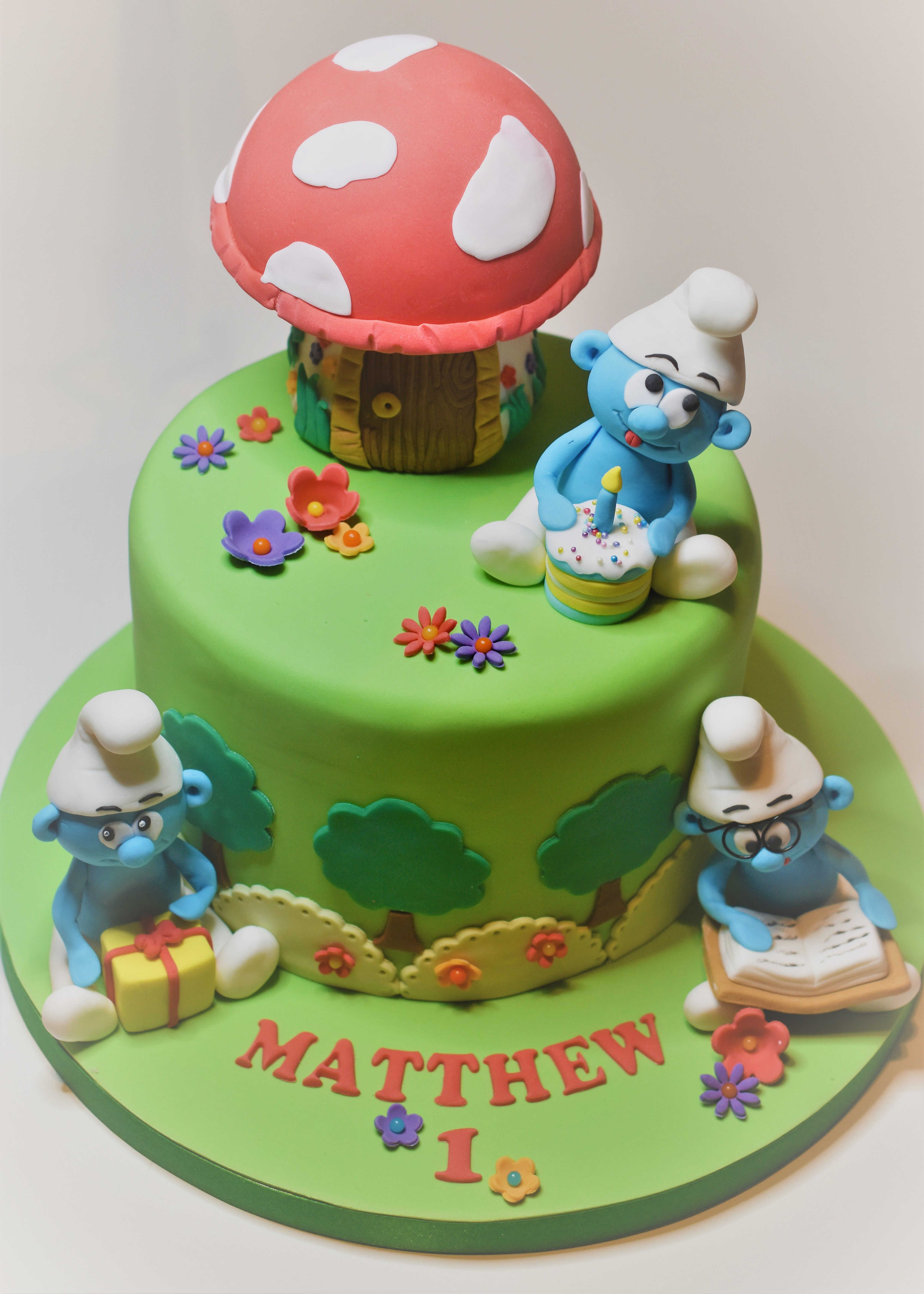Cool Smurfs Birthday Cake Smurfs Cake Birthday Cake Birthday Cake Funny Birthday Cards Online Overcheapnameinfo