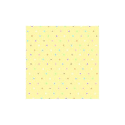 Sheetworld Pastel Pindots Woven Fabric By The Yard Color: Yellow