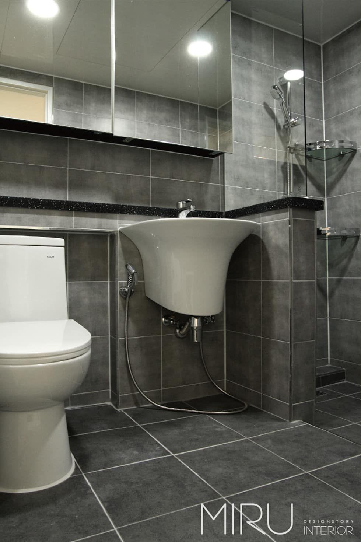 인테리어 디자인 아이디어, 내부 개조 & 리모델링 사진  화장실 ...