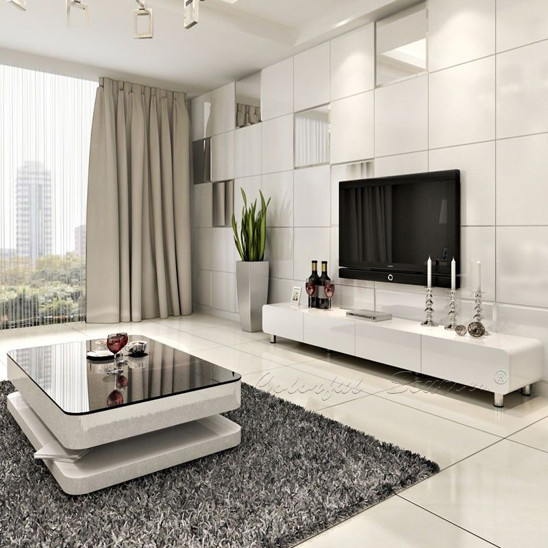 2015 modern high gloss white lcd tv cabinet design buy for Table tv design