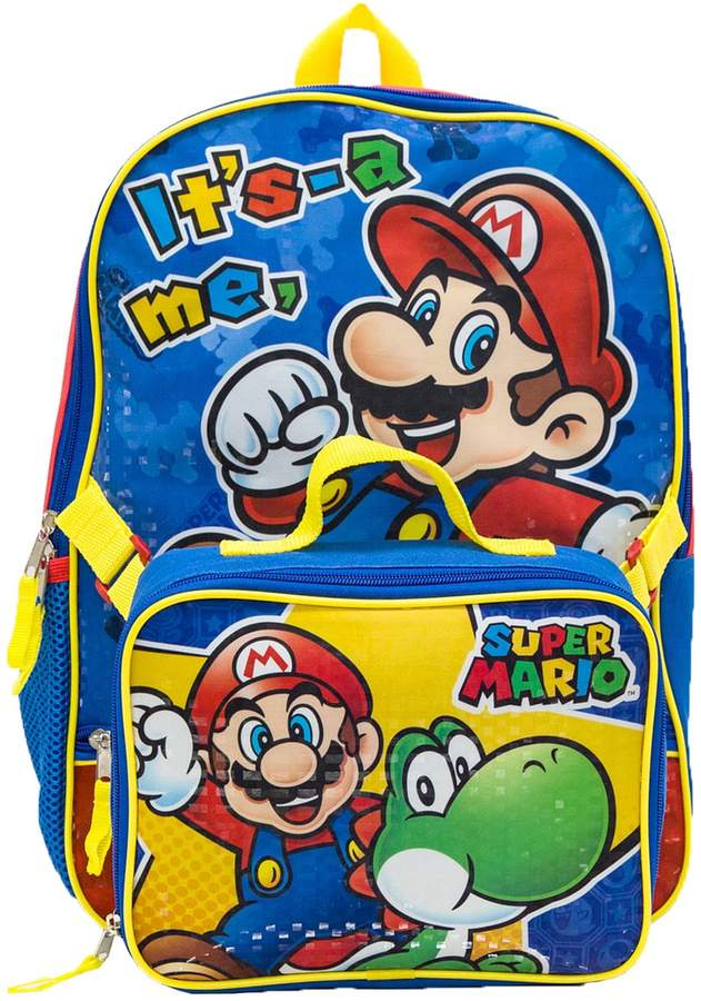 9cc4c4bae3 Kids Nintendo Mario   Yoshi Backpack   Lunch Bag Set