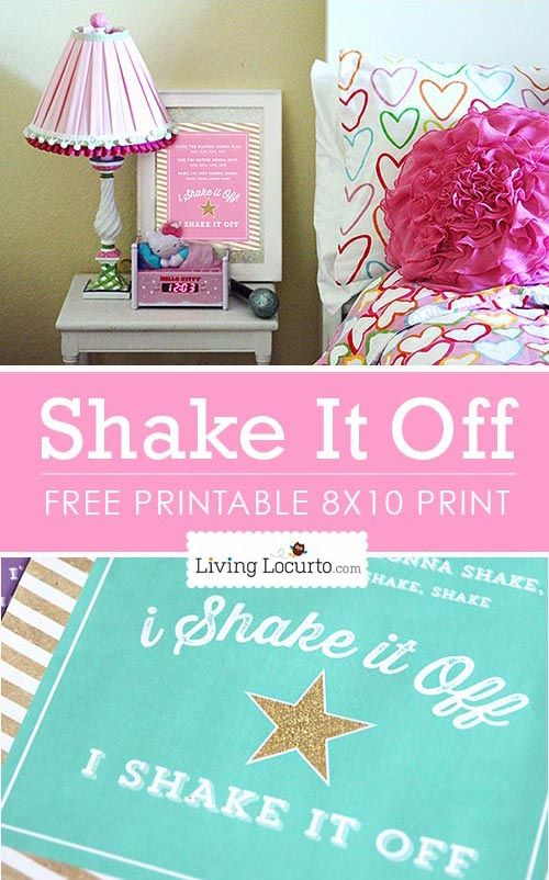 Shake It Off Free Printable Poster Living Locurto Recipes Party