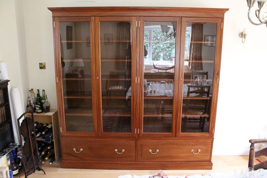 Large #displaycabinet with 4 glazed doors and 2 large lower #drawers