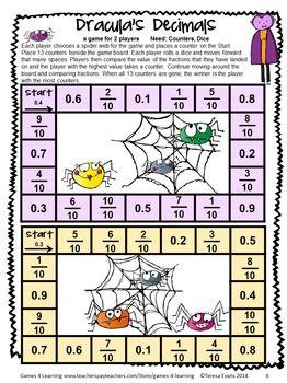 photo regarding Printable Decimal Games referred to as Halloween Math Game titles 4th Quality Math Math game titles
