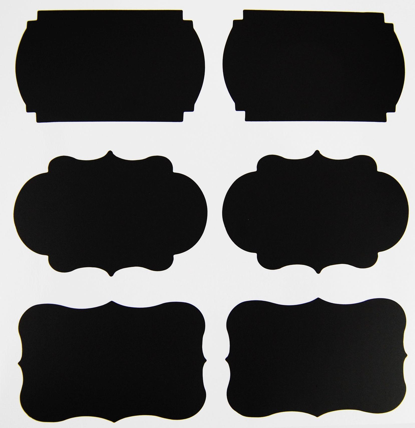 Chalkboard Label Shapes Jpg 1657 1708 Label Shapes Chalkboard Stickers Chalkboard Labels