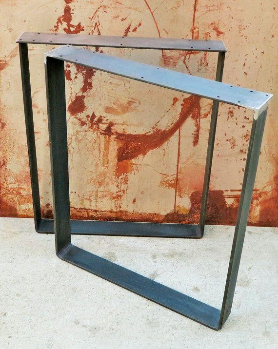 Patas metálicas de la mesa - barra plana Squared