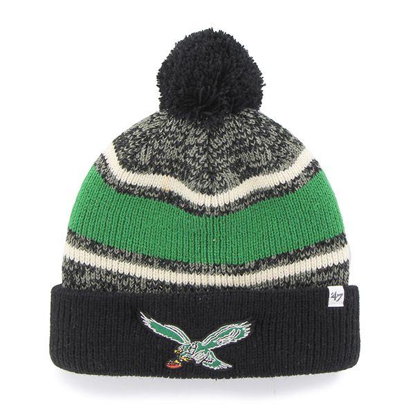 Philadelphia Eagles Fairfax Cuff Knit Black 47 Brand Hat ... c2a81b4e5