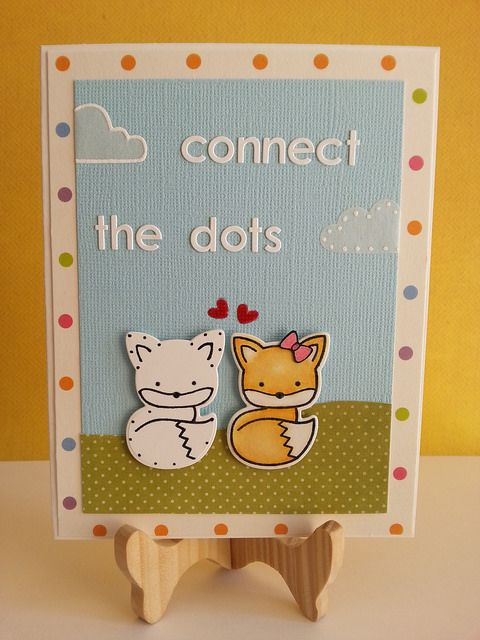 Lawn Fawn - Into the Woods _ cute and clever card by Hamutal! _ Connect the Dots | Flickr - Photo Sharing!