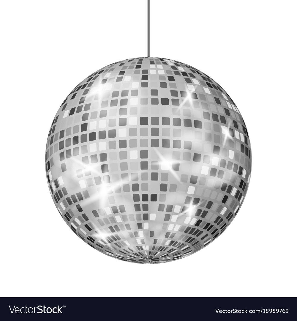 Silver Disco Ball Dance Night Club Retro Vector Image Affiliate Ball Dance Silver Disco Ad Retro Party Mirror Ball Silver Mirrors