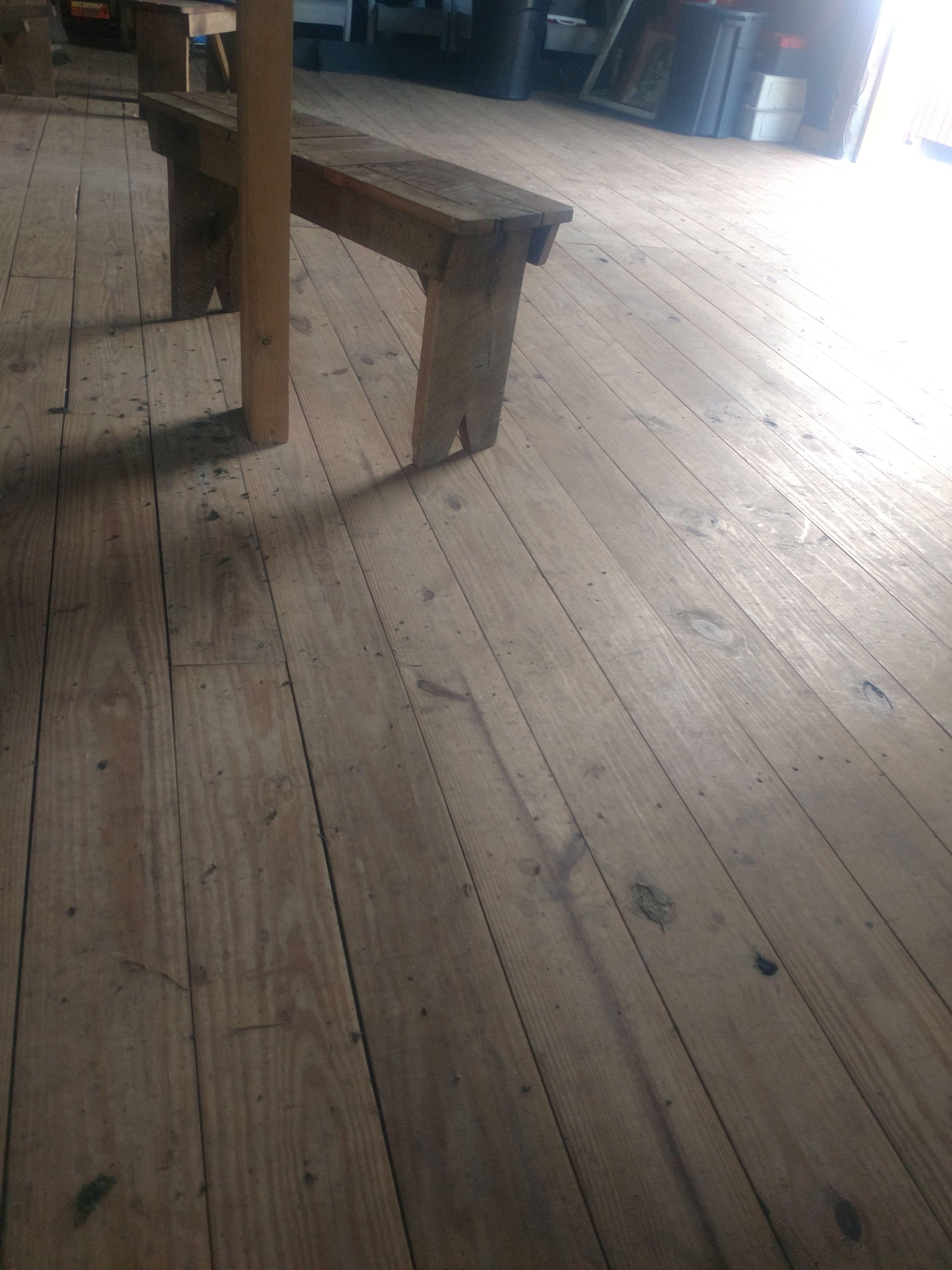 New Local Pine Tongue Groove 1 1 2 X 8 Bench Made Out Of Original Chestnut Floor Flooring Hardwood Hardwood Floors