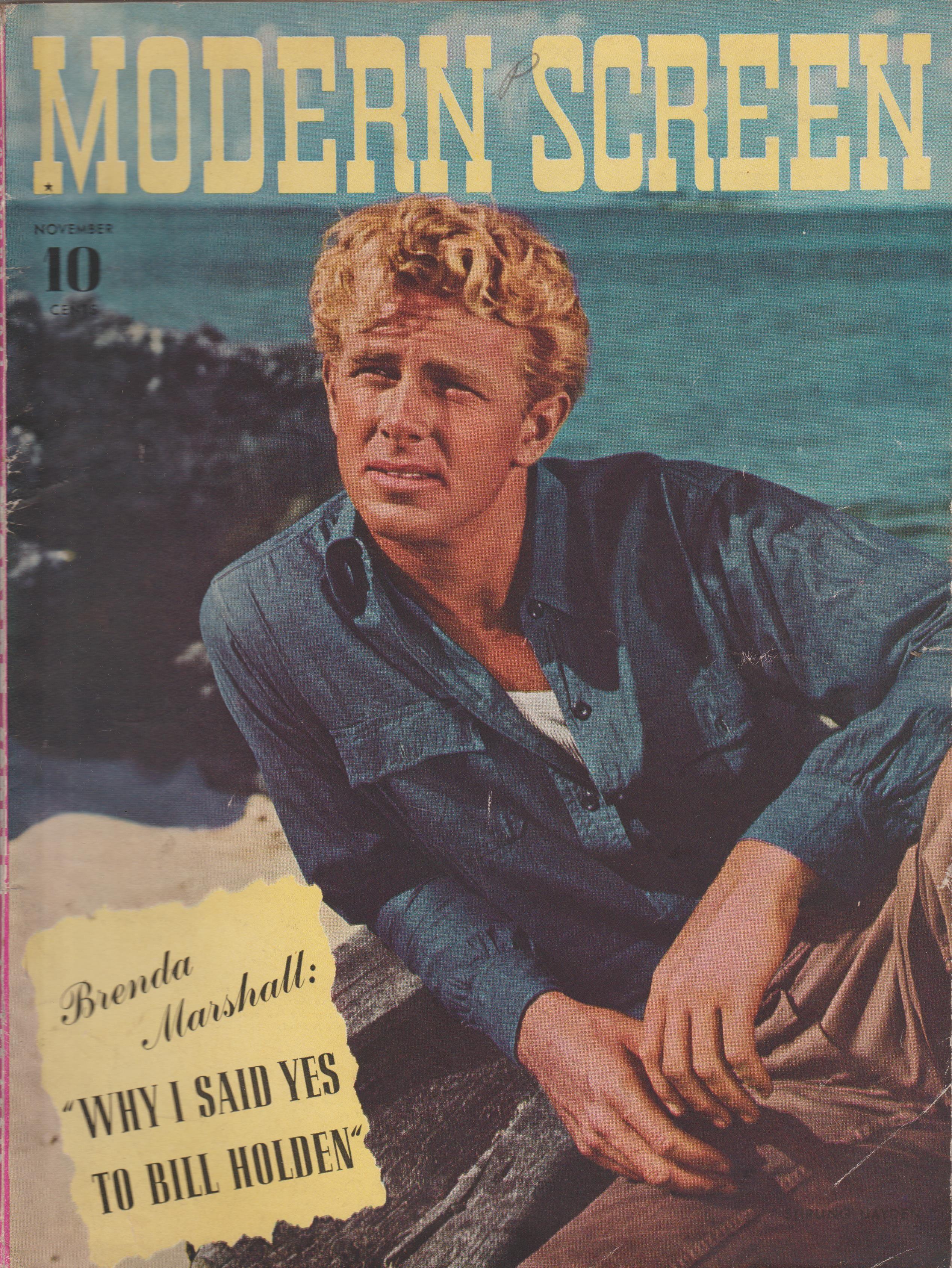 Stirling Hayden on the November 1941 Modern Screen