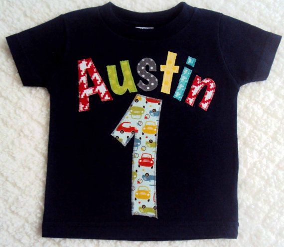 Boys First Birthday Shirt Personalized Name One Year Old Two