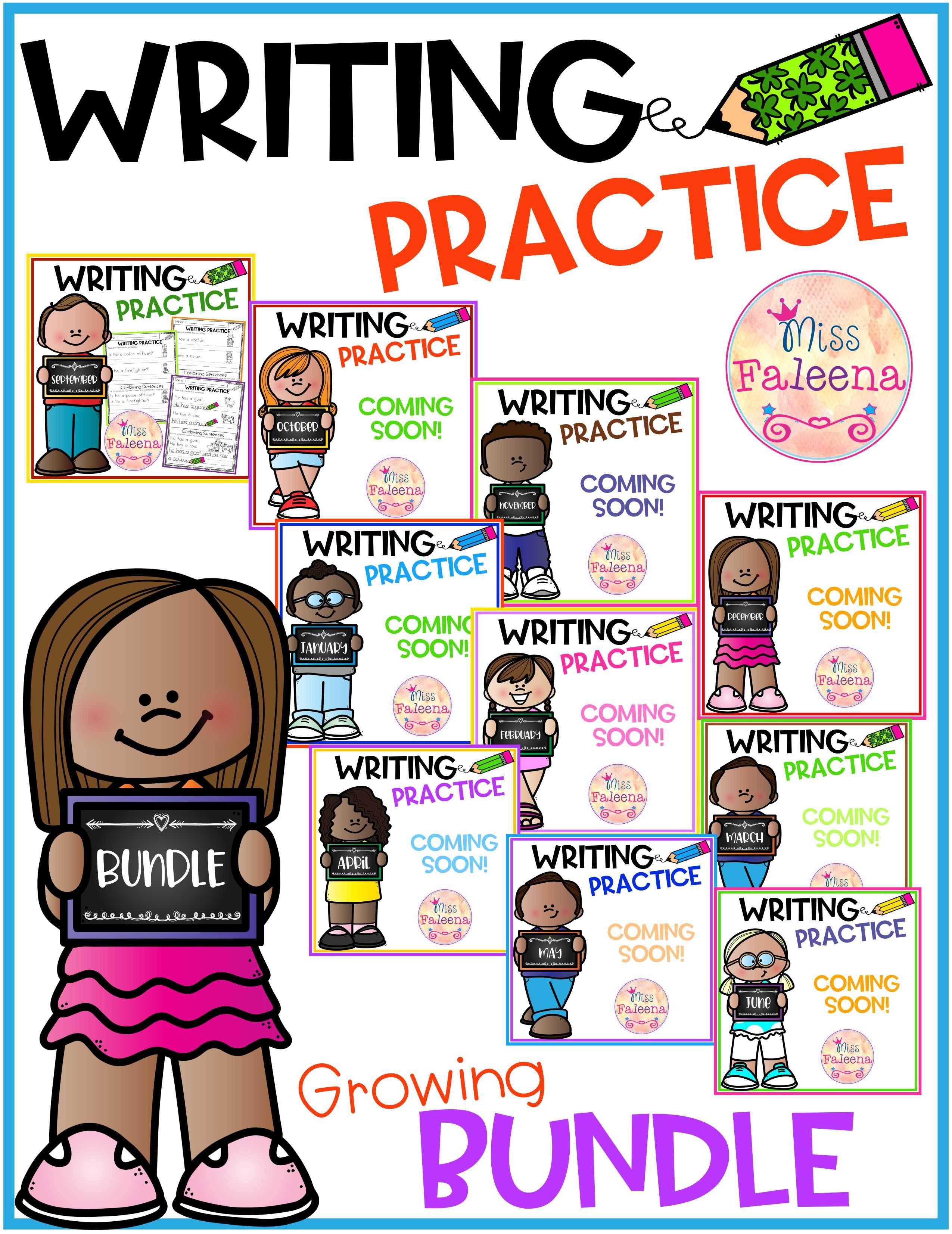 Writing Practice Bundle Combining Sentences