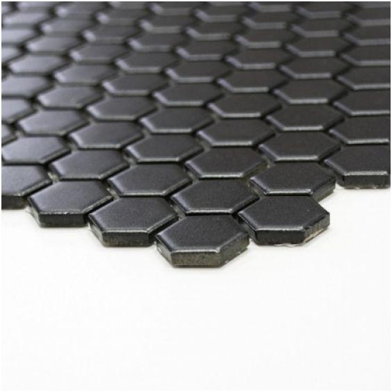 Mozaika Hexagon Black Mat 25x25mm