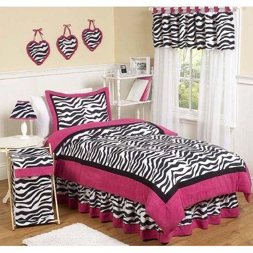Hot Pink Funky Zebra Bedding Set