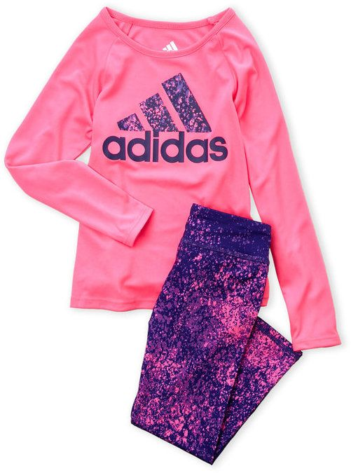 a30249d0 Girls 4-6x) Two-Piece Splattered Logo Top & Leggings Set | Products ...