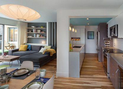 Cocina comedor y saln en un nico espacio Mi casa Pinterest
