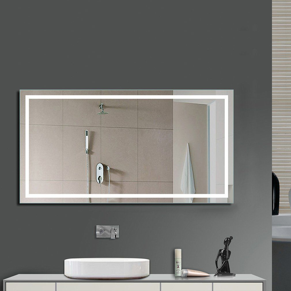 80 60cm Led Illuminated Bathroom Mirror With Built In Light Cool
