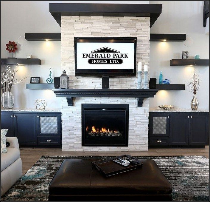 Photo of 136+ stunning family room ideas with fireplace 31 ~ myhomeku.com
