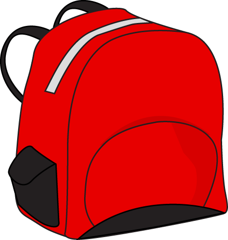 Red Backpack | Clipart, Escuela