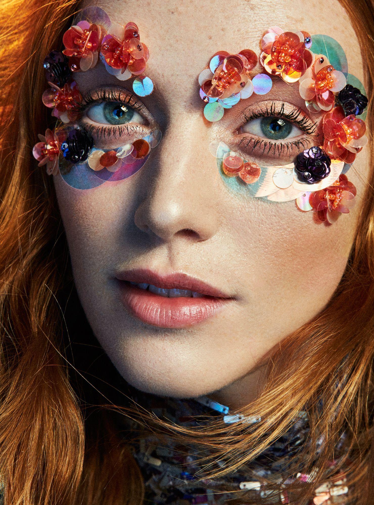 Halloween Glitter Eyeshadow, Butterfly Face Paint