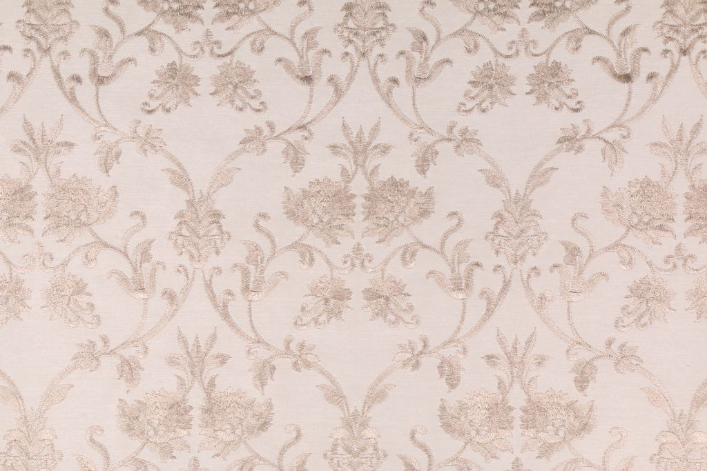 Sheila in Marble Embroidered Polyester Decorator Fabric by