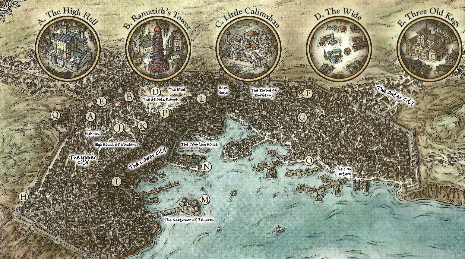 Punctilious Baldur S Gate City Map 5e 2019 Mapa De Fantasia