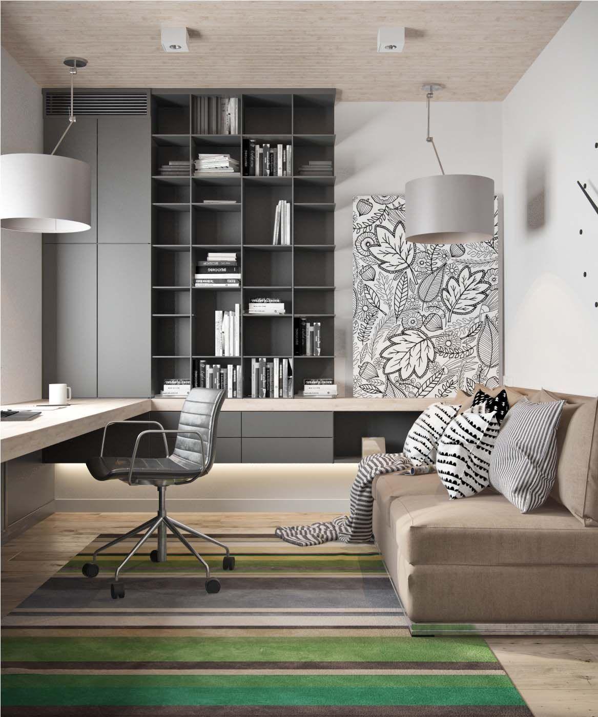 Contemporary Home Office Design Ideas Surf Images Of Contemporary Home Offices Discover Inspiratio Gray Home Offices Home Office Design Home Interior Design