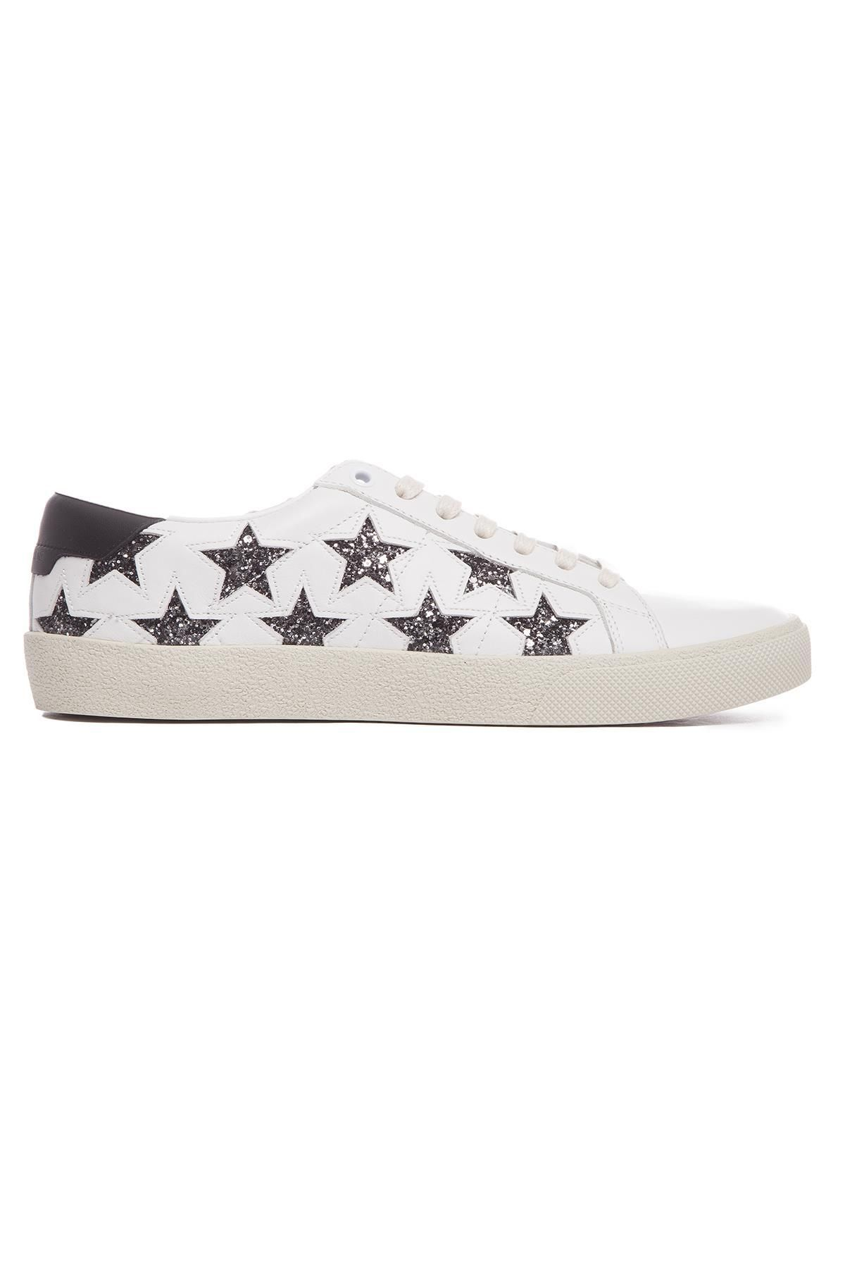 c7399b9118 SAINT LAURENT SAINT LAURENT GLITTER STAR SNEAKERS. #saintlaurent ...