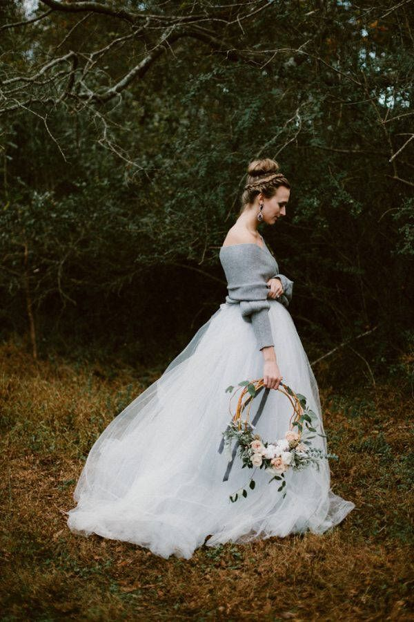 Probe Verkauf - Norma J Skirt in Schiefer - Blau Hochzeitskleid ...