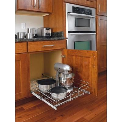 Rev A Shelf X Large Chrome Wire Basket 5wb1 2122 Cr At The Home Depot Kitchen Cabinet Shelves White Kitchen Remodeling Kitchen Cabinets Fittings