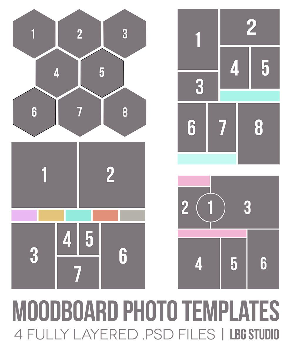 Moodboard Photo Templates | Change colour, Photoshop and Masking