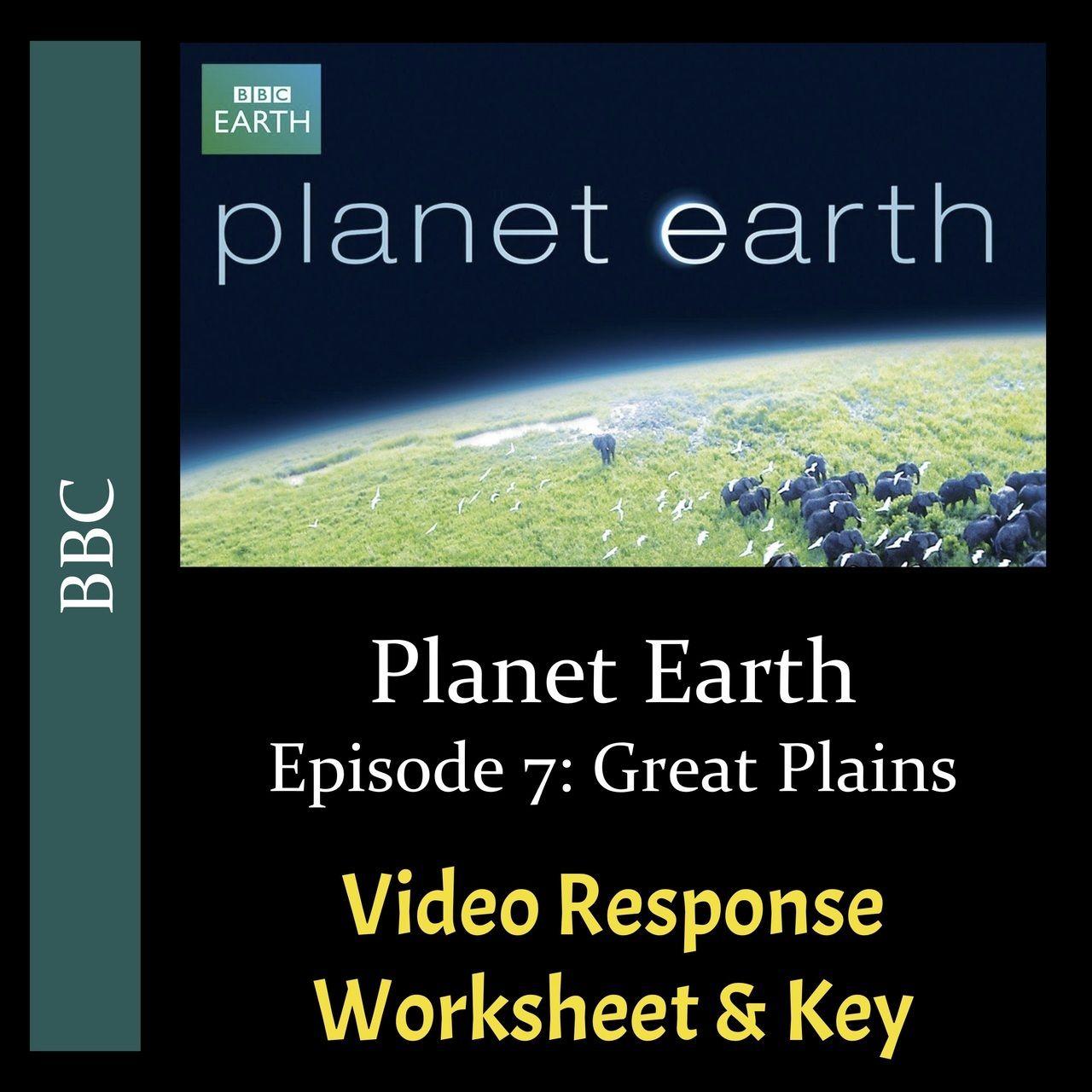 Planet Earth Great Plains Worksheet