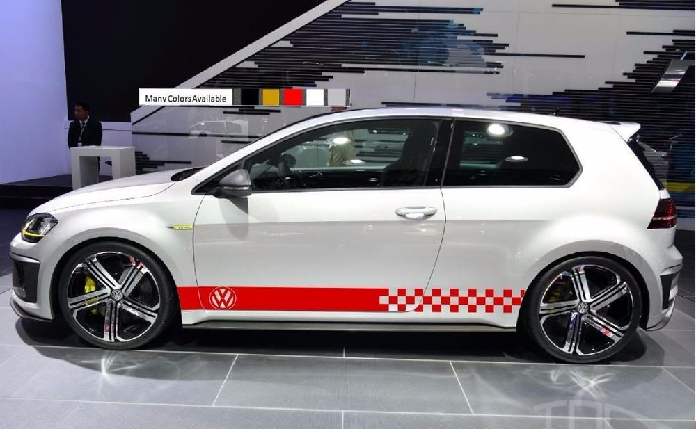 Details About Stickers Decal For Volkswagen Vw Golf Stripes